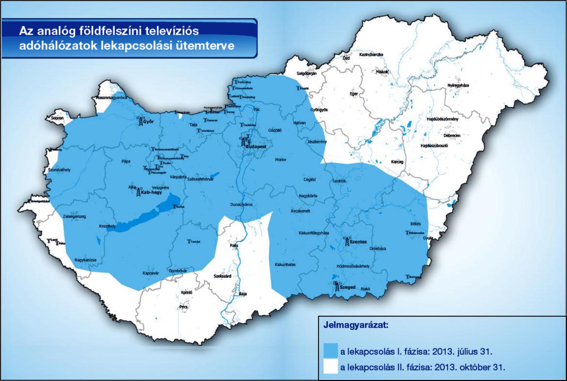 upc lefedettség magyarország térkép Október 31 én megszűnik a hazai analóg földfelszíni televíziós  upc lefedettség magyarország térkép