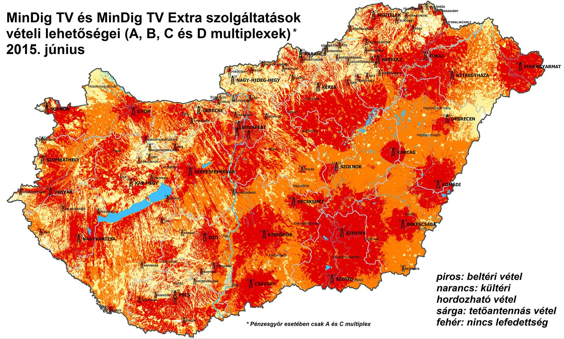 digi tv lefedettségi térkép budapest Tovább bővül a digitális földfelszíni televíziós hálózatok  digi tv lefedettségi térkép budapest