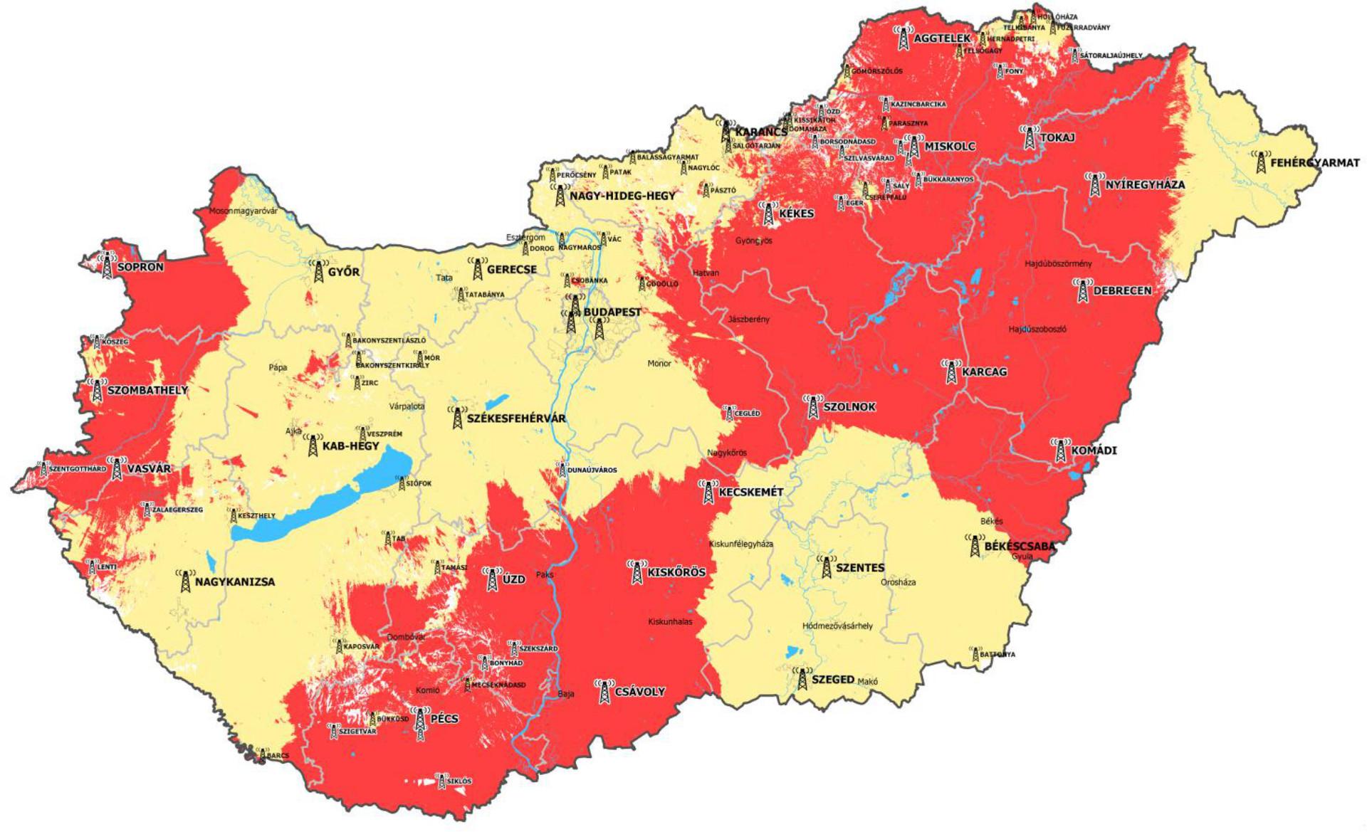 digi tv lefedettségi térkép budapest Frekvenciacserék negyven digitális földfelszíni televíziós  digi tv lefedettségi térkép budapest